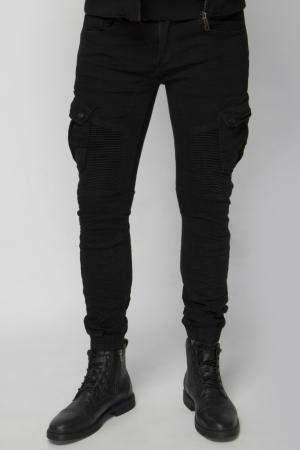 Skinny Biker Jean In Black