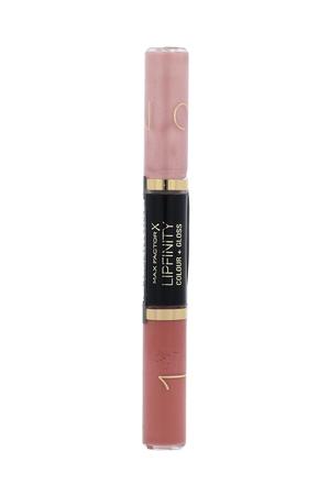 Max Factor Lipfinity Colour + Gloss Lipstick 2x3ml With Glitter 590 Glazed Caramel (Glossy)