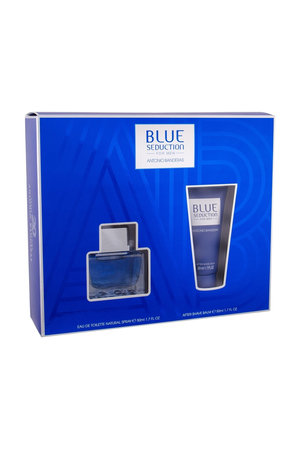 Antonio Banderas Blue Seduction For Men Eau De Toilette 50ml + After Shave Balm 50ml (Damaged Box)