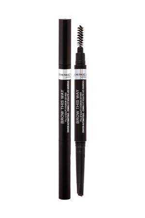 Rimmel London Brow This Way Fill Sculpt Eyebrow Pencil 0,25gr 004 Soft Black