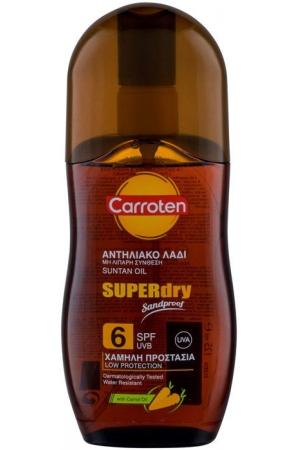 Carroten Superdry Suntan Oil SPF6 Sun Body Lotion 125ml (Waterproof)