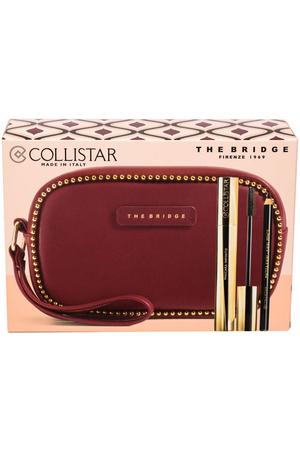 Collistar Infinito Mascara Extra Black 11ml Combo: Mascara 11 Ml + Eye Kajal Pencil 0,8 G Black + Cosmetic Bag The Bridge