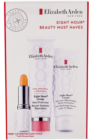 Elizabeth Arden Eight Hour Cream Skin Protectant Body Balm 50ml Combo: Protective Care 50 Ml + Moisturizing Hand Care 75 Ml + Moisturizing Lip Care SPF15 3,7 G