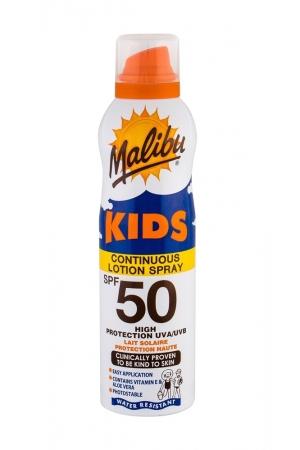Malibu Kids Continuous Lotion Spray Sun Body Lotion 175ml Waterproof Spf50
