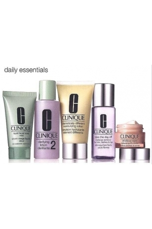Clinique All About Eyes Eye Cream 15ml Combo: 50ml Ddml + 15ml All About Eyes + 30ml Liquid Facial Soap Mild + 60ml Clarifying Lotion 2 + 50ml Take The Day Off Makeup Rem (Mixed - Dry - For All Ages)