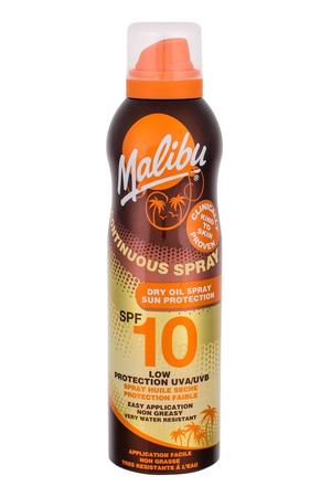 Malibu Continuous Spray Dry Oil Sun Body Lotion 175ml Waterproof Spf10