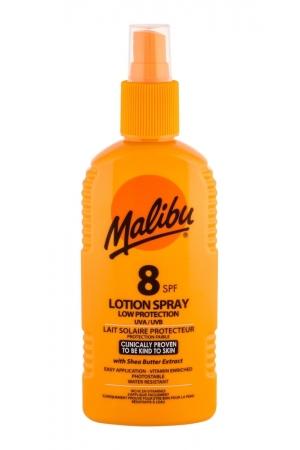 Malibu Lotion Spray Sun Body Lotion 200ml Waterproof Spf8