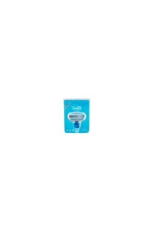 Gillette Venus Razor 1pc Combo: Shaver With One Head 1 Pc + Spare Gead 1 Pc + Shaving Gel Satin Care Pure & Delicate 75 Ml