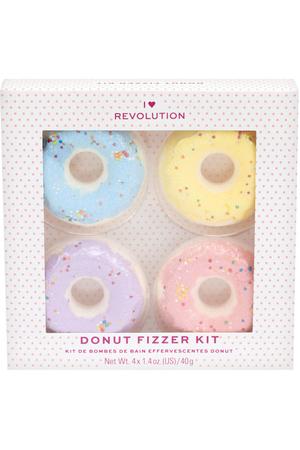 Makeup Revolution London I Heart Revolution Donut Bath 4x40gr Fizzer + Lavender + Banana + Strawberry