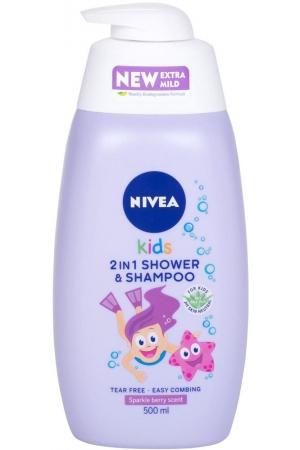 Nivea Kids 2in1 Shower & Shampoo Shower Gel 500ml