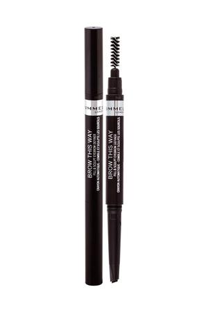 Rimmel London Brow This Way Fill Sculpt Eyebrow Pencil 0,25gr 003 Dark Brown