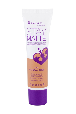 Rimmel London Stay Matte Liquid Mousse Foundation Makeup 30ml 400 Natural Beige