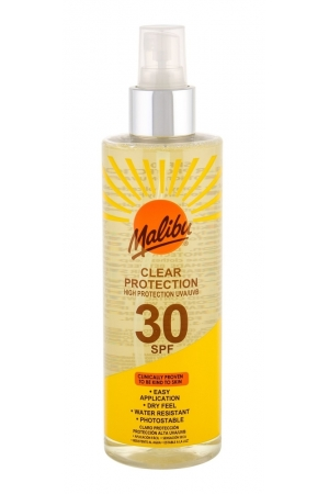 Malibu Clear Protection SPF30 Sun Body Lotion 250ml (Waterproof)