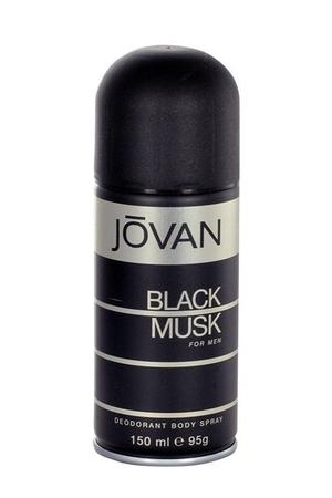 Jovan Musk Black For Men Deodorant 150ml Aluminum Free (Deo Spray)