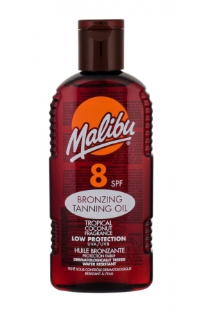 Malibu Bronzing Tanning Oil Sun Body Lotion 200ml Spf8