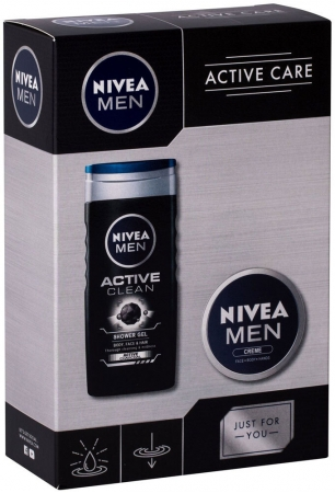 Nivea Men Active Clean Shower Gel 250ml + Men Creme 75ml