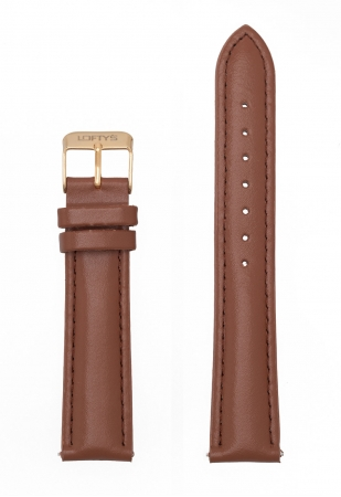 Brown Genuine Leather Strap 18mm