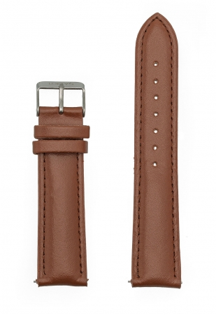 Brown Genuine Leather Strap 20mm