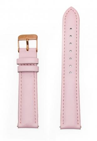 Dark Pink Genuine Leather Strap 18mm
