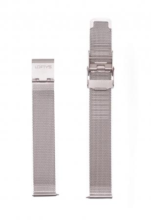 Silver Mesh Strap 14mm