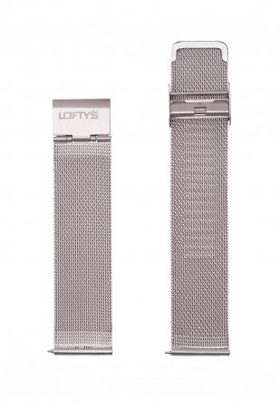 Silver Mesh Strap 20mm