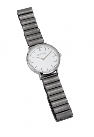 LOFTY'S Corona Grey Stainless Steel Bracelet Y2016-11