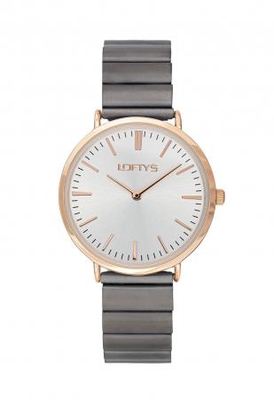 LOFTY'S Corona Grey Stainless Steel Bracelet Y2016-6