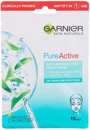 Garnier Pure Active Anti-Imperfection Face Mask 1pc (For All Ages)