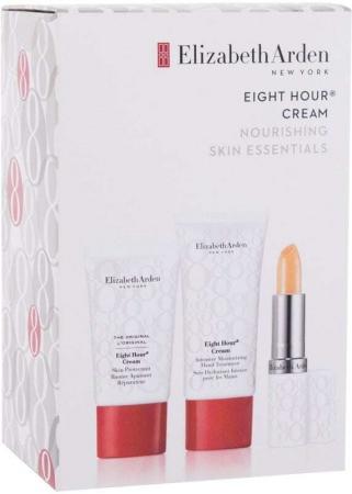 Elizabeth Arden Eight Hour Cream Skin Protectant Nourishing Skin EssentialsCombo:Cream Skin Protectant 15ml+Cream Intensive Moisturizing Hand Treatment 30ml+Cream Lip Protectant Stick SPF15 3,7gr