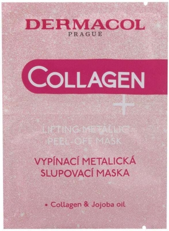 Dermacol Collagen+ Lifting Metallic Peel-Off Face Mask 15ml (Wrinkles)