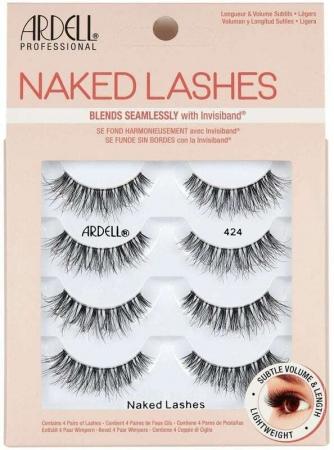 Ardell Naked Lashes 424 False Eyelashes Black 4pc