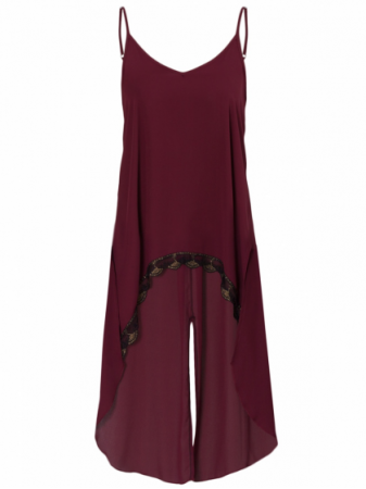 Oversized Top with Spaghetti Strap