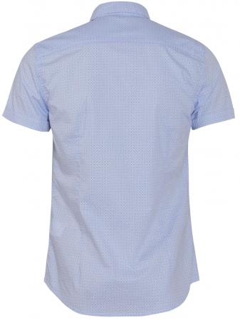 COZY Men's Shirt Micro Print In Ciel