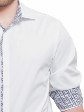 Slim Fit Shirt with Geometric Print