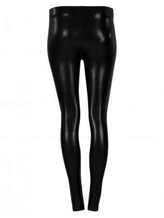 Black Pu Legging