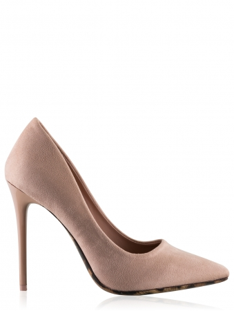 High Heel Court Shoes With Leopard Detail