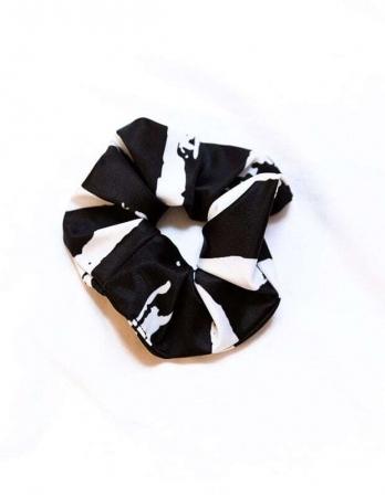 Scrunchie Μαλλιών Black & White