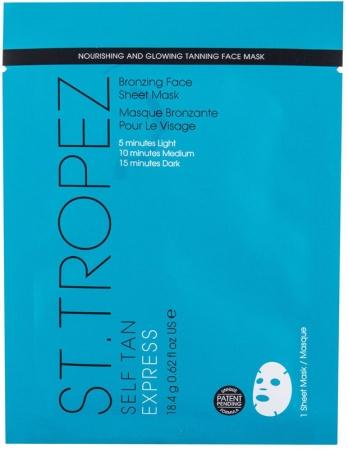 St.tropez Self Tan Express Bronzing Face Sheet Mask Self Tanning Product 18,4gr
