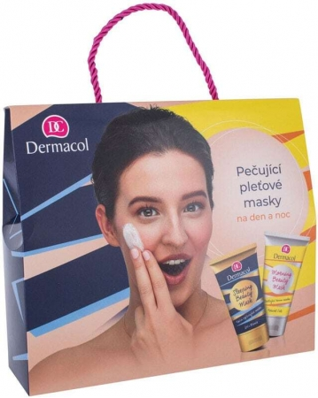 Dermacol Morning Beauty Mask Face Mask 150ml Combo: Daily Facial Mask 150 Ml + Night Facial Mask 150 Ml (For All Ages)