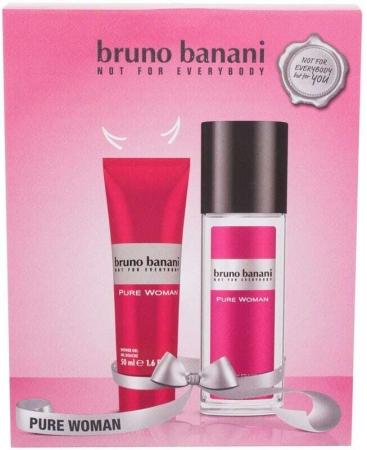 Bruno Banani Pure Woman Deodorant 75ml Combo: Deodorant 75 Ml + Shower Gel 50 Ml (Deo Spray)