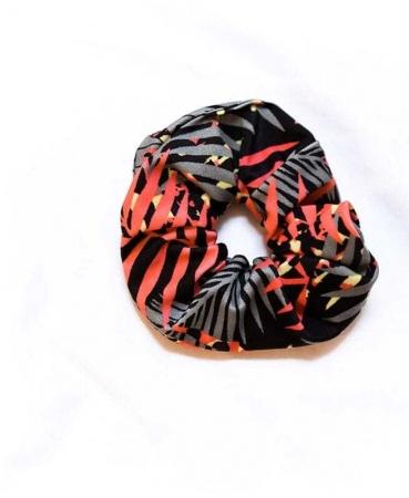 Scrunchie Μαλλιών Tropical & Coral
