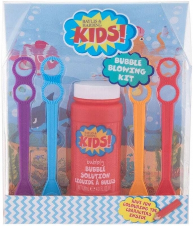 Baylis & Harding Kids! Bubble Blowing Bath Foam 120ml Combo: Bubble Making Solution 120 Ml + Blower 4 Pcs
