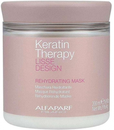 Alfaparf Milano Keratin Therapy Lisse Design Rehydrating Hair Mask 200ml (All Hair Types)
