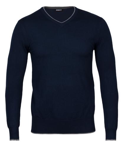 Πλεκτή Μπλούζα με V Λαιμόκοψη