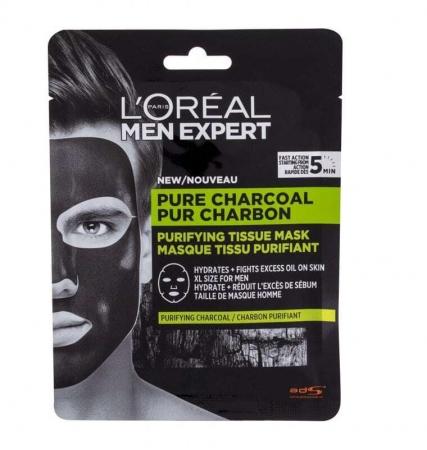 L´oréal Paris Men Expert Pure Charcoal Face Mask 30gr (For All Ages)
