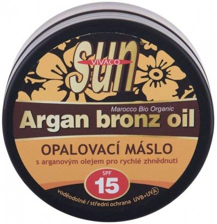 Vivaco Sun Argan Bronz Oil SPF15 Face Sun Care 200ml (Waterproof)
