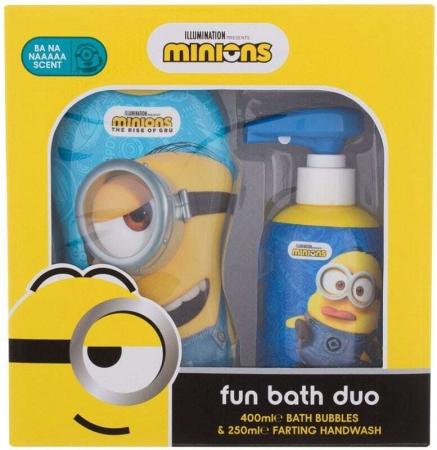 Minions Bubble Bath Fun Bath Duo Bath Foam 400ml Combo: Minions Bath Bubbles Ba Na Naaaaa 400 Ml + Minions Farting Hand Wash Ba Na Naaaaa 250 Ml