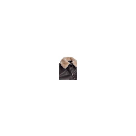 Ανδρικό Τζάκετ Δερματίνη με Αφαιρούμενο Γούνινο Γιακά