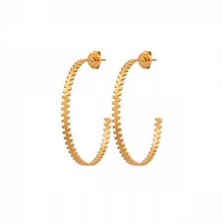 COZY DESIGN hoop earrings in gold tone