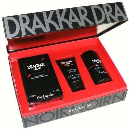 Guy Laroche Drakkar Noir Eau de Toilette 100ml Combo: Edt 100ml + 75ml Deostick + 50ml Shower Gel